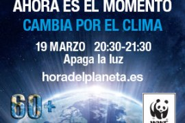 'la hora del planeta' 19 de marzo de 20:30 a 21:30 horas