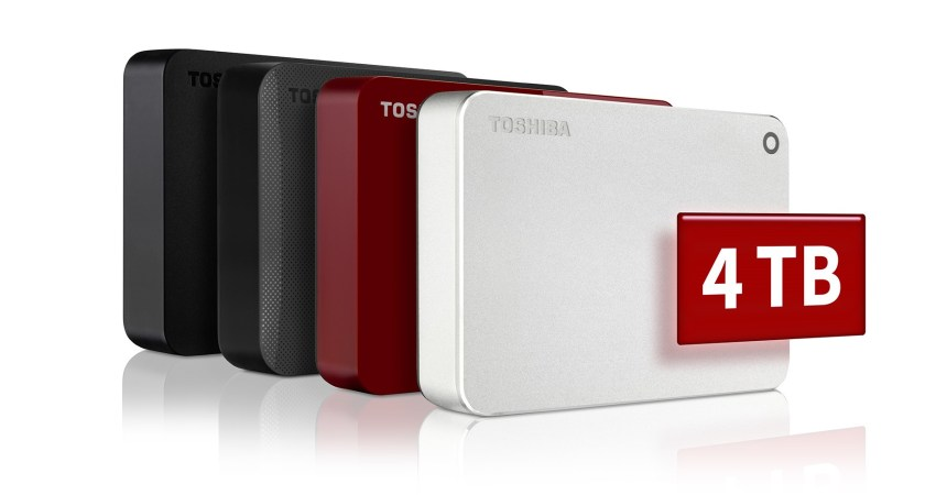 Toshiba amplía su familia CANVIO hasta los 4 TB