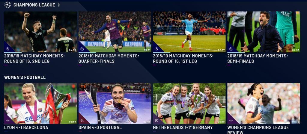 La UEFA lanza su propia plataforma digital gratuita de fútbol
