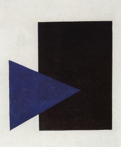 Suprematismo con triangulo azul y cuadrado negro (Супрематизм с синим треугольником и черным треугольником), 1915