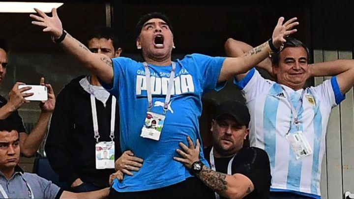 Maradona terminó internado en Rusia