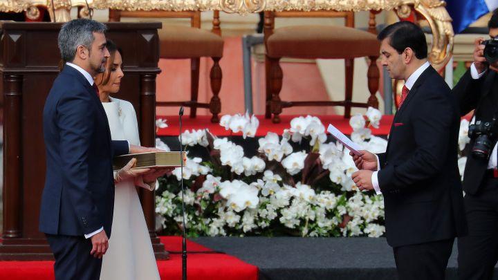 Mario Abdo Benítez asumió la Presidencia del Paraguay