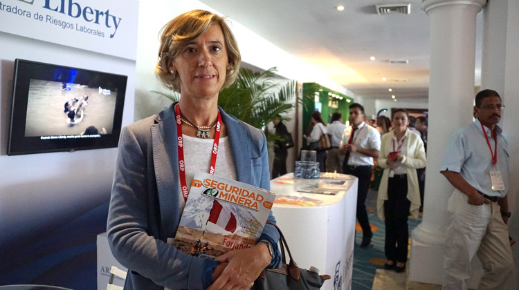 Pilar Cáceres Armendáriz, directora del Centro Nacional de Medios de Protección del Instituto Nacional de Seguridad e Higiene en el Trabajo-INSHT de España