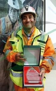 César Daniel Félix Mejía, jefe de seguridad de la mina Carahuacra.