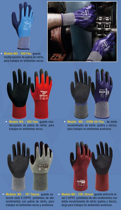Resistencia al corte con guantes de seguridad Wonder Grip Dexcut