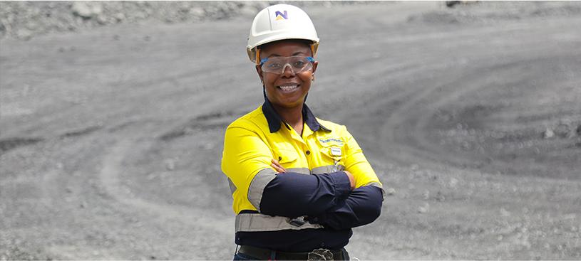 Afia Baah, Chief Mining Engineer at Akyem, ganadora del CEO Safety Leader Award recipient.