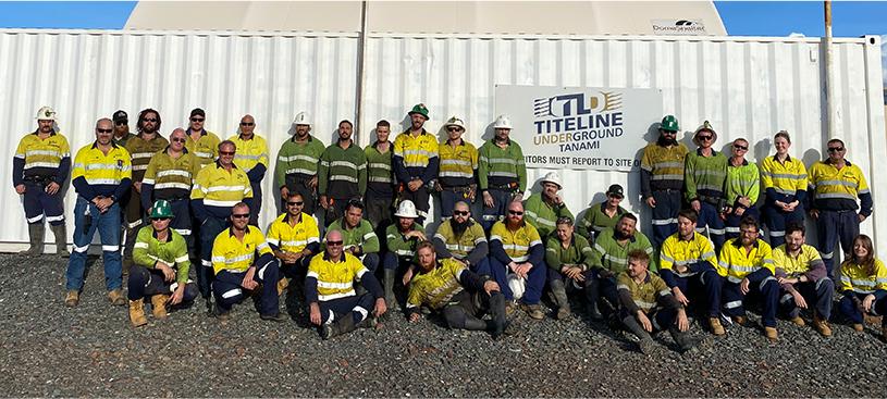Tanami Titeline Exploration/Drilling Team obtuvo el reconocimiento CEO Safe Team Award recipient para el 2020.