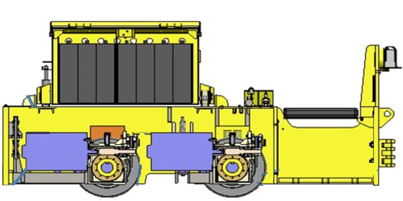 Diseño original: estribo en locomotora y último carro minero