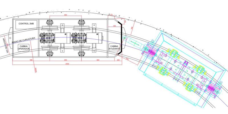 Diseño de la cabina del ayudante motorista
