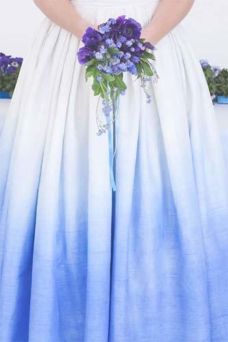 Ideas originales para bodas teñir vestido