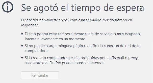 Facebook se queda sin servicio