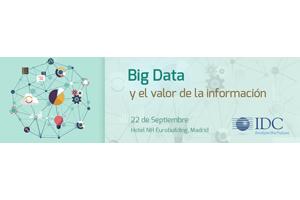 Big Data & Analytics el próximo 22 de septiembre en Madrid