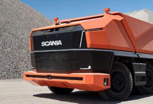Scania AXL un camión autónomo, sin cabina y con biocombustible.