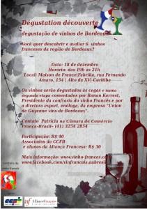 Primeira fotogarfia publicada no artigo Degustação de vinhos de Bordeaux na Maison de France