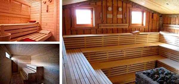 Construccin con Madera El sauna en casa en Vivienda