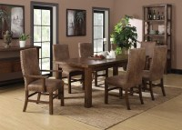 Rustic Formal Dining Table Set in Oregon w/Almond Nailhead