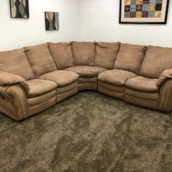 Light Brown Sofa Bar Height Table Behind Reserved Microfiber Sectional Set With