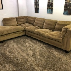 Light Brown Sofa Crypton Fabric Set Modern Reversible