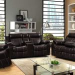 3pc Dark Brown Leather Air Reclining Sofa With Foot Support And Reclining Gliding Loveseat And Chair Set Revitalized Furnishingsrevitalized Furnishings