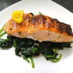 Thyroid Type Salmon Steak Florentine Recipe