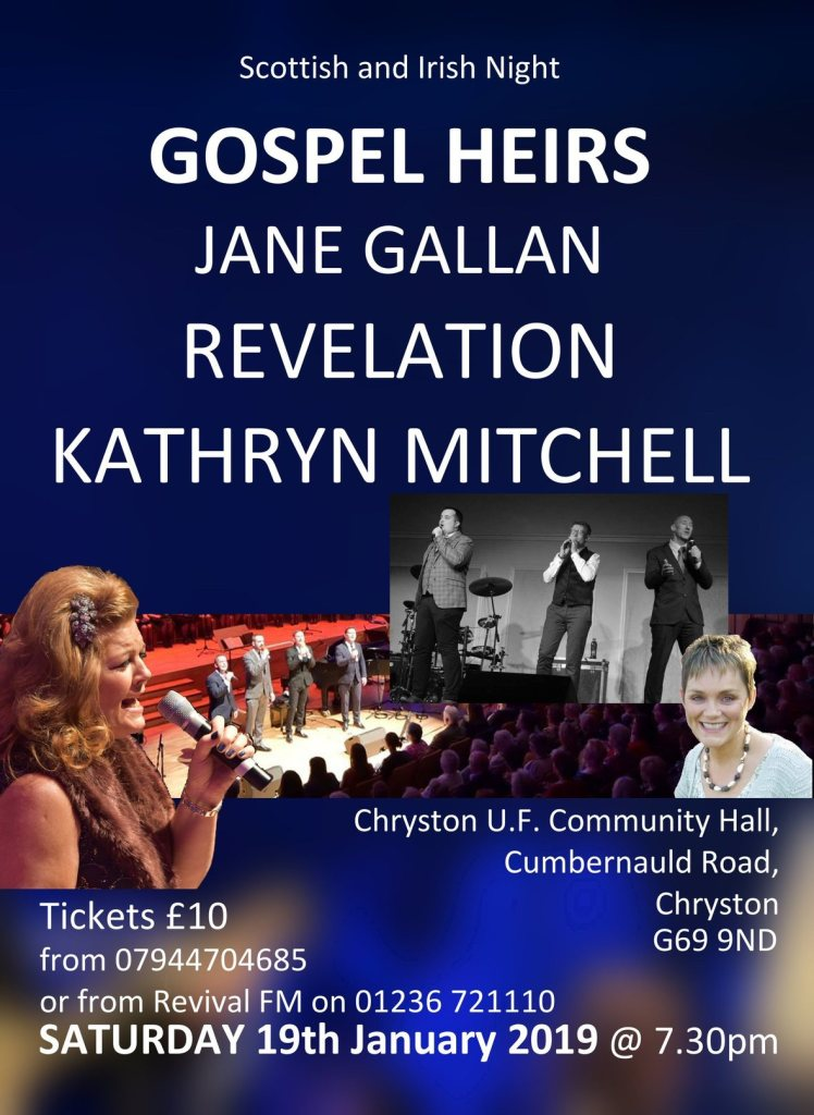 TONIGHT: Gospel Heirs and guests at Chryston UF Hall