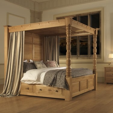 Traditional Four Poster Bed The Balmoral 4 Poster Bed Revival Beds