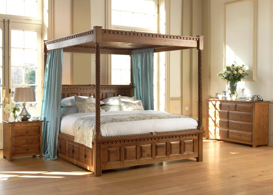 Four Poster Bed The County Kerry Handmade For Solid Wood Revival Beds