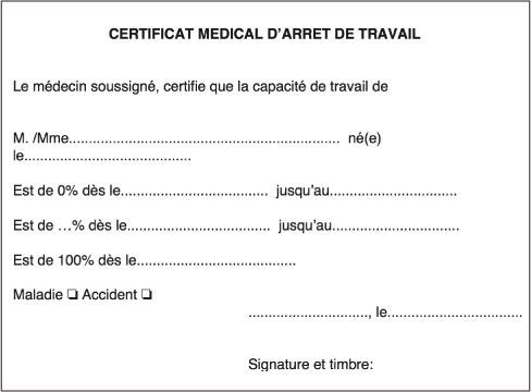 Certificat Médical Darrêt De Travail Et Certificat Médical