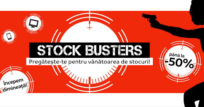 Oferte la eMAG: Stock Busters – februarie 2017