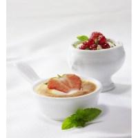White porcelain lion-headed soup bowl