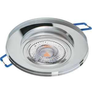 Sklenené bodové podhľadové svietidlo pevné GLASSO-O-S, pevné, priesvitné
