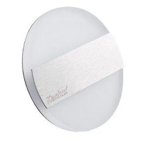 Schodové svietidlo kruhové LIRIA MINI, studená biela, brúsené striebro