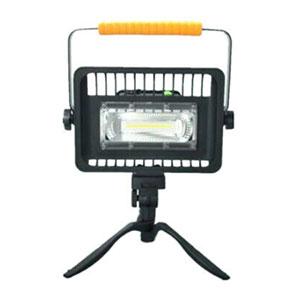 Prenosný LED reflektor 30W, studená biela s výstražným osvetlením