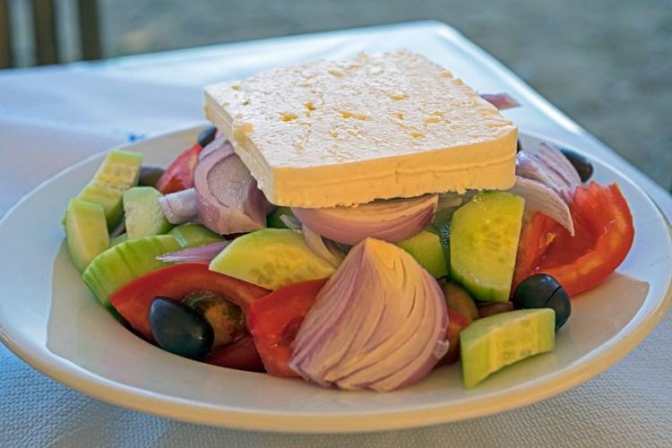 Greek salad - restaurant style