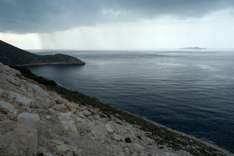 Cape Limenari, the NW point of Kastellorizo.