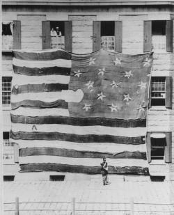 First Photo of the Star Spangled Banner Flag