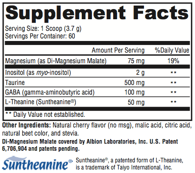 revolution.calm supplement facts