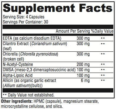 Chelution Supplement Facts