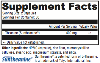 L-Theanine Supplement Facts