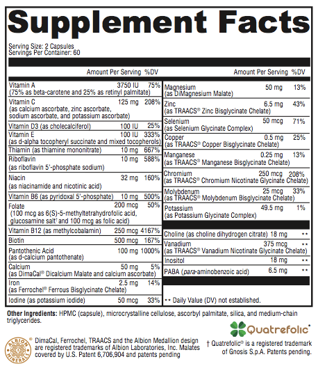 Revolution Nutrients Supplement Facts; Revolution supplements
