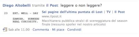 Diego Altobelli, Lost