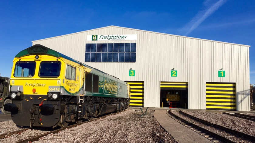 66418 at Freightliner's new Crewe depot