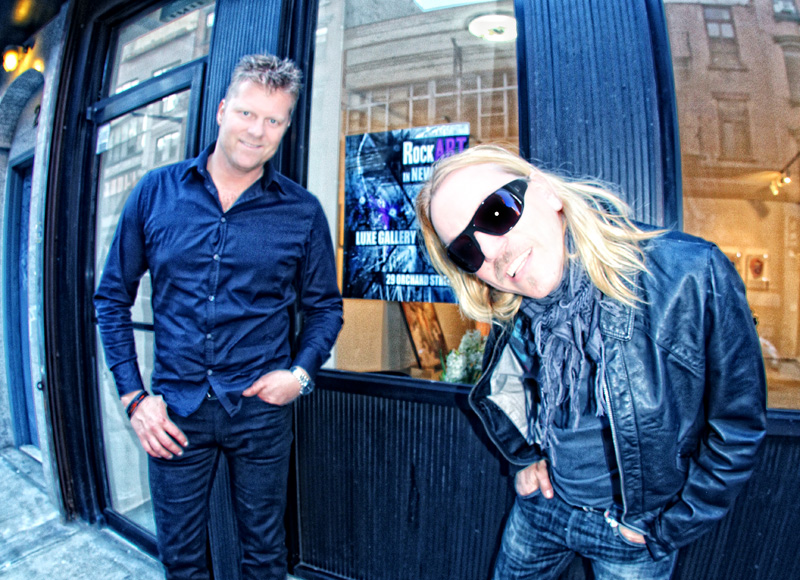 Björn Johansson & Patric Ullaeus infront of the RockART Gallery in New York City