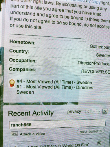 REVOLVER.SE No.1 on YouTube  | www.youtube.com/ranch666
