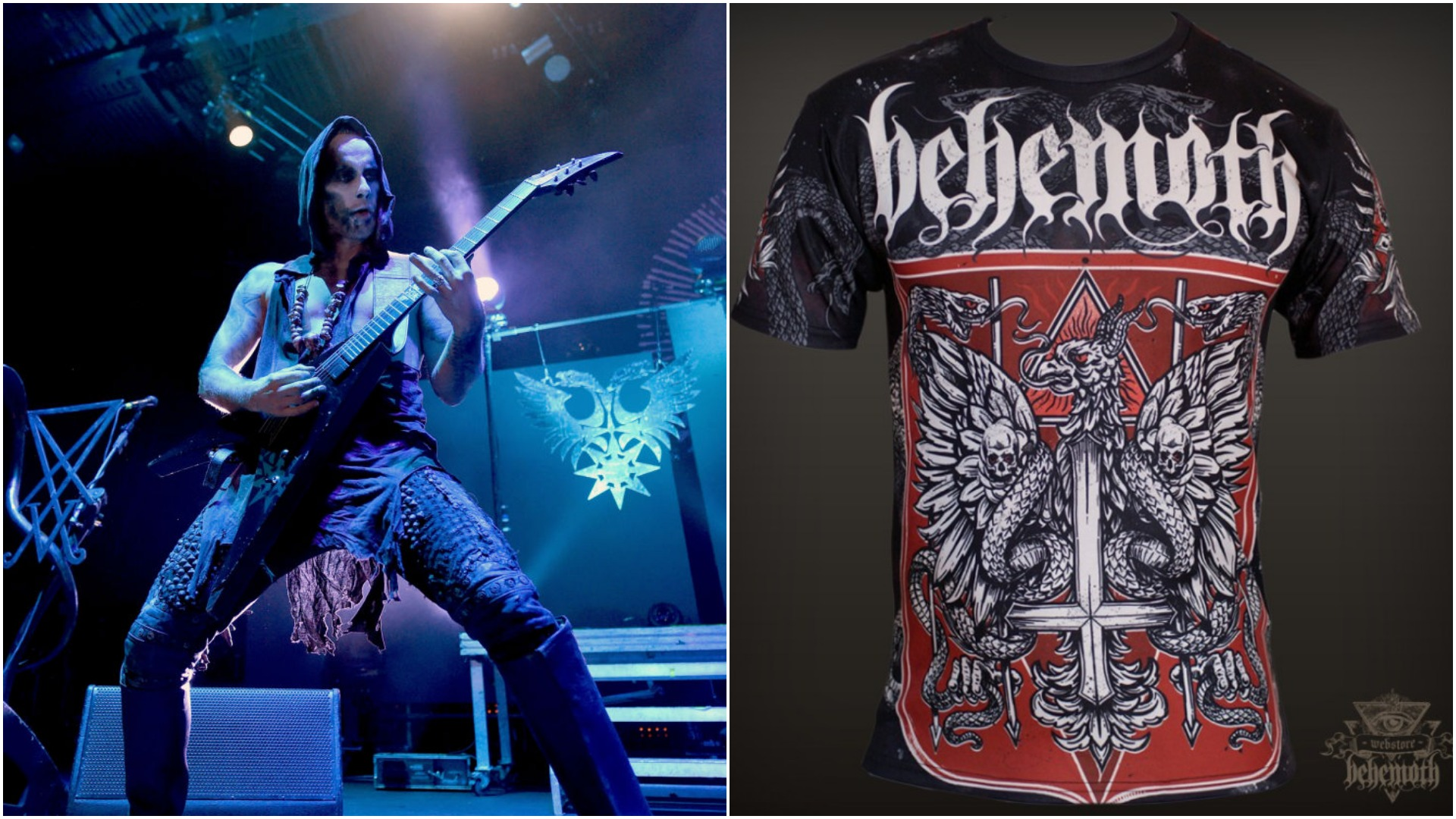 hot water music shirt marine electrical wiring diagram behemoth 39s nergal questioned by polish authorities over