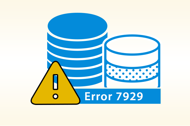 fix sql server database error 7929