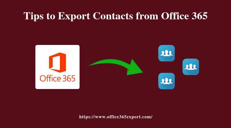 Export Office 365 Contacts to PST