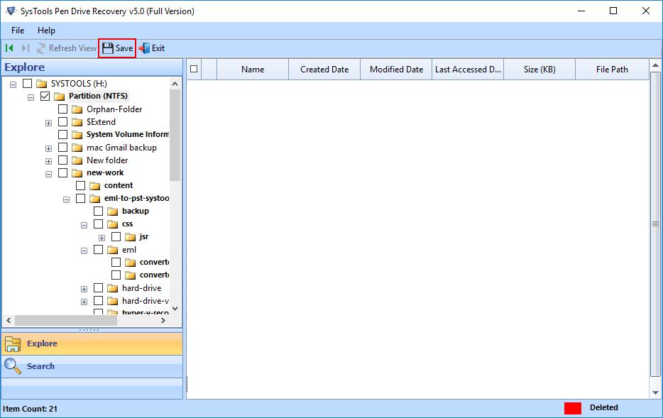 pen drive data