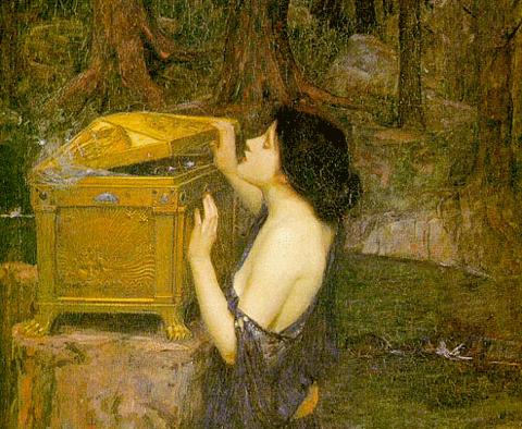 Tout en constatant la mort rôder autour de lui, il garde, telle Pandore dans sa boîte magique, l'espoir, l'intuition profonde que derrière chaque automne, se prépare un nouveau printemps.