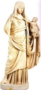 272-dames romaines-Messaline et Britannicus